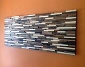 Reclaimed Wood Wall Art - Modern Wood Sculpture - Abstract Painting on Wood