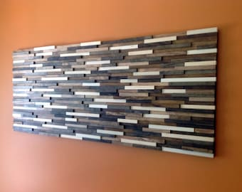 Large Reclaimed Wood Wall Art 24x60