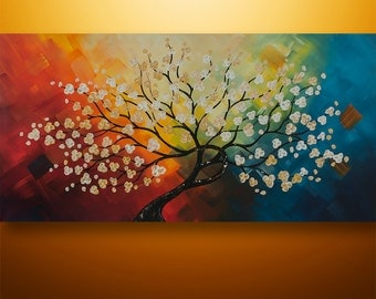Abstract Painting, Landscape Painting, Tree Painting, Large Painting, Wall Art, Wall decor, Canvas painting, by Gabriela, Original, Asian