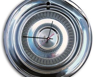 1957 DeSoto Hubcap Clock - Classic Car Hub Cap Wall Decor