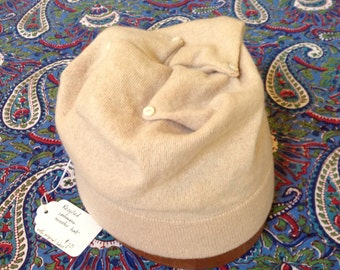 Recycled cashmere sweater hat