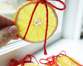 Dried Orange Christmas Ornaments