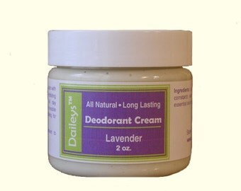 Lavender - Deodorant Cream - All Natural Aluminum Free