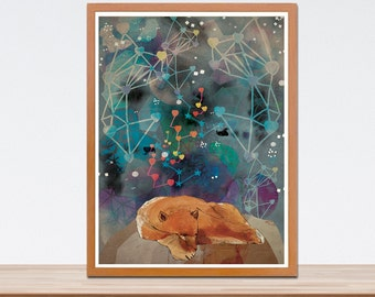 Sleeping Under the Stars Print