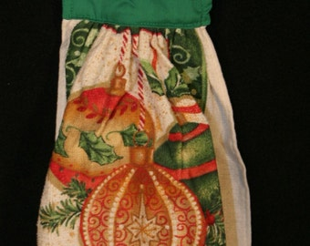 Cloth Sewn top Christmas terry towel, ornaments
