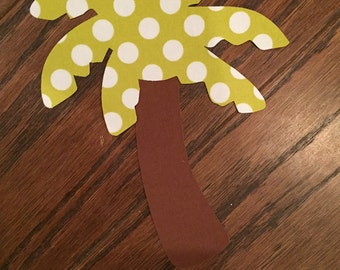 Palm Tree Iron On Applique, You Choose Fabric
