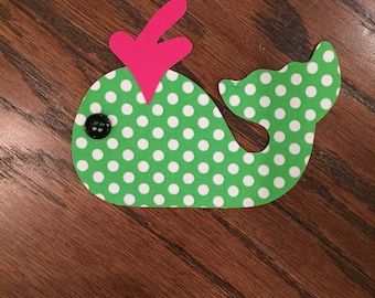 Whale Iron On Applique, You Choose Fabric