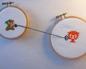 Link vs. Octorok Cross Stitch
