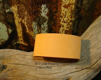NEW Just Peachy, Vintage Rose - Minty - - Pick 3 Leather Supply Cuff Colors - 1 1/2 x 9 Pick Your Snaps