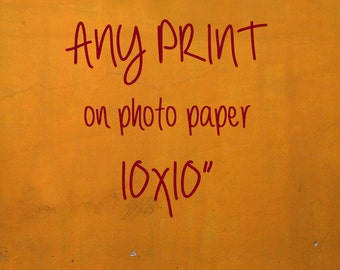 """resize your order to 10x10""""-- paper print"""