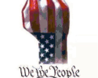 We The People Counted Cross Stitch Pattern