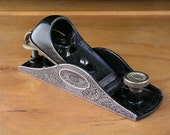 Vintage Hand Engraved Stanley No. 9-1/4 Block Plane, Hand Plane, Planer, Hand Tool, Father's Day Gift For Men Husband Woodworker