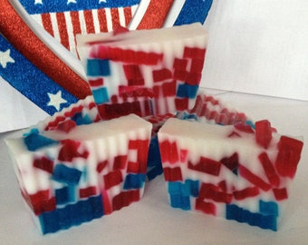 Red, White & Blue Anthem Goat's Milk and Glycerin Soap