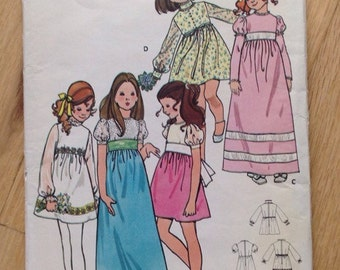 UNCUT Girl's Party or Easter Dress Butterick 6063 - size 4