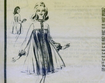 1960s Modes Royale  Pattern 2322 -  UNCUT - GLAMOROUS Evening Cocktail Sheath Dress w/ Flowing Overdress * Size 14..bust 34