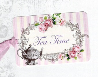 Tags, Tea Time, Roses & Tea, Cottage Style, Tea Pot