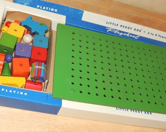 1950s Playskool Little Peggy Box In original Box with accessories