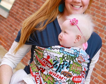 Baby Wrap Baby Carrier Stretchy Wrap Baby Sling  - POW! - Instructional DVD Included - FAST shipping