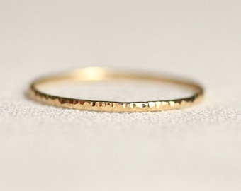 Select a Gold - Daire Wedding Band - Delicate Tree Bark Wedding Band - Solid 14k White or Yellow or Rose or Green Gold - Simple Rustic Band