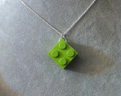 LEGO Block necklace - corner drilled --your choice of color-- geek girl collection