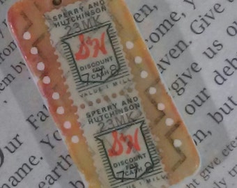 vintage meets modern S&H green stamps multi media art