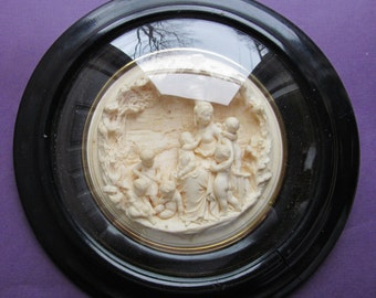Antique Meerschaum French Napoleon III Madonna Virgin Mary BabyJesus