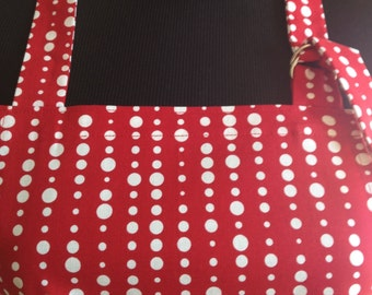 Bright Red Chefs Apron Great for kitchen or tailgating!