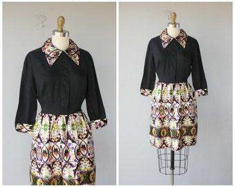60s Dress | 1960s Dress | Collared Dress | Mod Dress | 60s Party Dress
