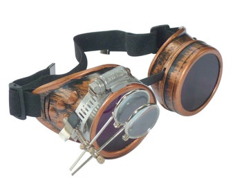 Steampunk Goggles Airship Captain Apocalyptic Mad Scientist Victorian Limited CC L
