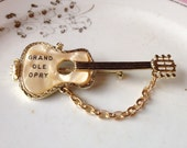 Vintage 1950's Grand Ole Opry Guitar Pin