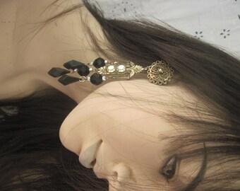 Vintage 1980 Large Chandelier Earrings