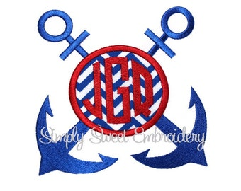 Anchor Frame Machine Embroidery Design