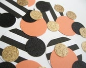 NEW Mixed Up - Confetti Celebration-Black/White/Peach/Coral/Champagne/Glitter - Parties/Showers/Weddings/Holidays/Table Decor/DIY Garland
