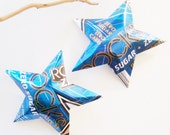 Rockstar Zero Sugar Zero Carb Blue Energy Star Ornaments Soda Can Upcycled