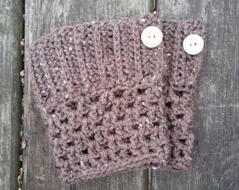 Boot Cuffs - Crocheted - BARLEY