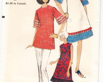 Vintage 1966 Vogue 6726 Sewing Pattern Misses' One-Piece Dress Size 12 Bust 32
