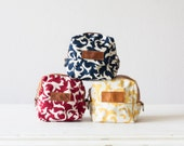 Floral makeup bag,cosmetic storage bag,bridesmaids gift,baby shower gift,flower makeup bag,utility bag,accessory bag -Cube