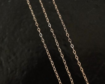 50 Feet - Rose Gold Filled Cable Chain - Custom Lengths Available