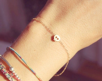 Mini Gold Skull Bracelet
