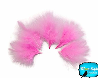 Down Feathers, 1/4 lb - PINK Turkey Marabou Short Down Fluffy Loose Wholesale Feathers (bulk) : 3839