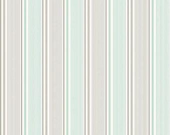 ORGANIC Willow Mint Stripe- Riley Blake- C3074
