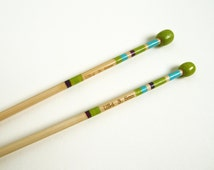 Size 4 Knitting Needles Hand Painted, 3.5mm Knitting Needles, Single Pointed Knitting Needles, Made of Bamboo