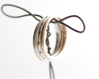 Mixing It Up Silver and Bronze Stacking Rings