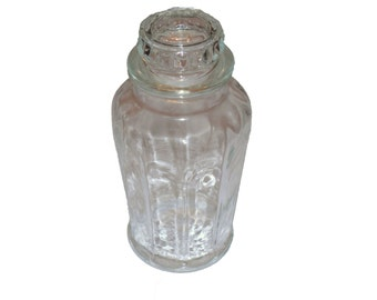 Vintage Glass  Apothecary Jar  Ginger Jar Shaped Chinoiserie Asian Style