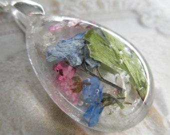 Sky Blue Forget-Me-Nots, Pink Alyssum, Baby's Breath, Queen Anne's Lace, Maidenhair Ferns-Gifts Under 35-Symbolizes True Love, Memories