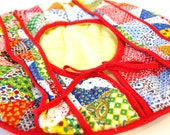 Vintage Quilted Fabric Pie Carrier