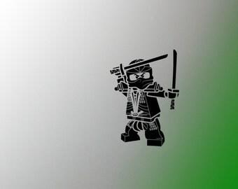 Lego inspired ninjago wall decal