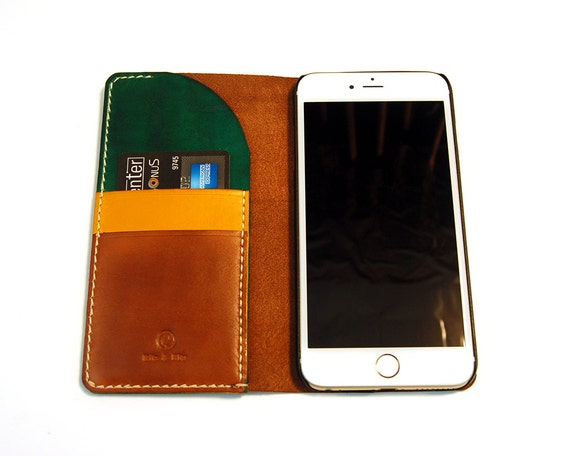 Leather iPhone 7 wallet, Leather iPhone  7 plus wallet, Handmade iPhone 7, iPhone 7 Plus, Leather phone case