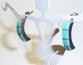 Sterling Silver Turquoise Native American Southwest Style Earrings on Etsy