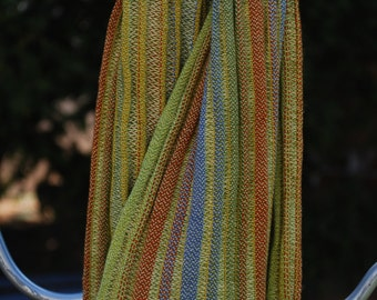 Handwoven Silk and Tencel Scarf